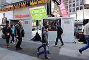 "The ground-breaking photo series, ""Waste in Focus,"" sponsored by The Glad Products Company, is unveiled in New York's Times Square, Thursday, April 10, 2014.  The photo series reveals the amount of trash U.S. families produce in an average week. Visit wasteinfocus.com to learn more about the photo exhibit. (Photo by Diane Bondareff/Invision for The Glad Products Company/AP Images)"