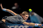 Kevin Anderson of South Africa in action during the Nitto ATP World Tour Finals at the O2 Arena, London, United Kingdom on 17 November 2018. Photo by Martin Cole