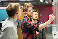 10/23/15 – Medford/Somerville, MA – Students work on projects at the second annual Polyhack at 574 Boston Avenue on Friday, Oct. 23, 2015. (Evan Sayles / The Tufts Daily)