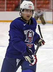 Mitja Robar at morning practice of Slovenian national team before match against Canada at Hockey IIHF WC 2008 in Halifax,  on May 02, 2008 in Metro Center, Halifax, Canada.  (Photo by Vid Ponikvar / Sportal Images)