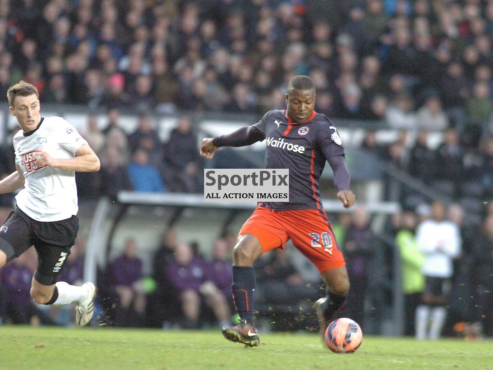Readings Yakubu Fires in Readings Second Goal, Derby County v Reading, FA Cup, Pride Park Saturday 14th Febuary 2015