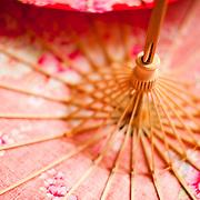 Traditional cloth and bamboo umbrella at Guangdexing Paper Umbrella Shop, Meinong Township, Kaohsiung County, Taiwan