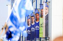 Everton banners on display outside Goodison Park - Mandatory byline: Matt McNulty/JMP - 07966 386802 - 04/10/2015 - FOOTBALL - Goodison Park - Liverpool, England - Everton  v Liverpool - Barclays Premier League