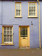 Colorful face of Irish house at Killarney