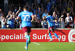 Kyle Wootton of Scunthorpe United celebrates after scoring his sides second goal  - Mandatory by-line: Matt McNulty/JMP - 06/08/2016 - FOOTBALL - Glanford Park - Scunthorpe, England - Scunthorpe United v Bristol Rovers - Sky Bet League One