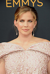Anna Chlumsky at the 68th Annual Primetime Emmy Awards held at the Microsoft Theater in Los Angeles, USA on September 18, 2016.