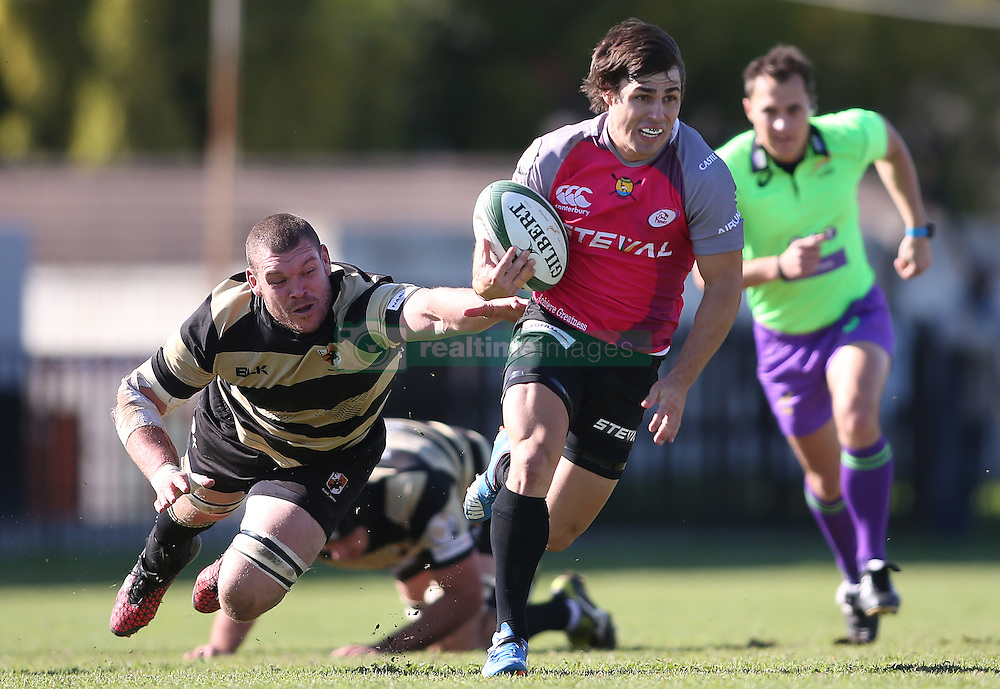 Emile Temperman of the Pumas on the attack during the Currie Cup premier division match between the Boland Cavaliers and The Pumas held at Boland Stadium, Wellington, South Africa on the 2nd September 2016<br /> <br /> Photo by:   Shaun Roy/ Real Time Images