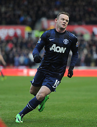 Manchester United's Wayne Rooney - Photo mandatory by-line: Alex James/JMP - Tel: Mobile: 07966 386802 01/02/2014 - SPORT - FOOTBALL - Britannia Stadium - Stoke-On-Trent - Stoke v Manchester United - Barclays Premier League