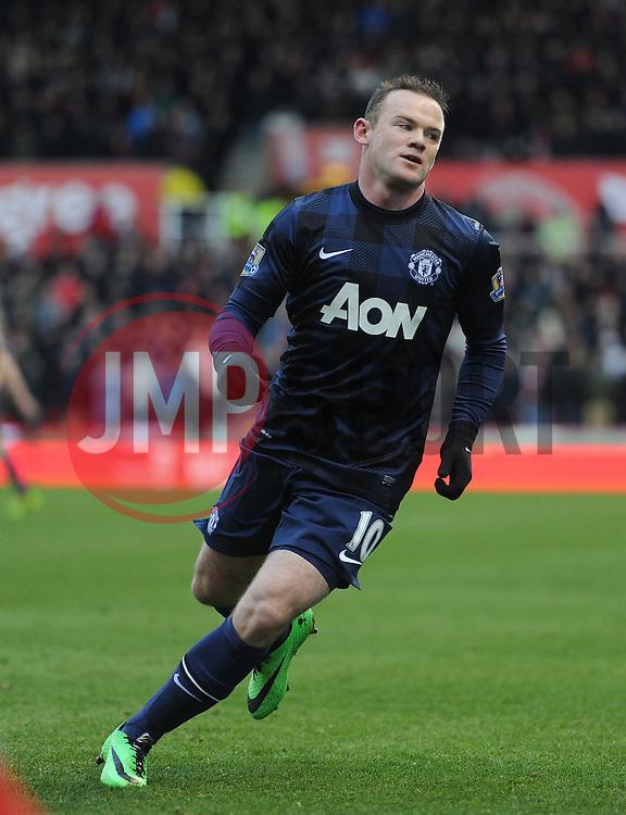 Manchester United's Wayne Rooney - Photo mandatory by-line: Alex James/JMP - Tel: Mobile: 07966 386802 01/02/2014 - SPORT - FOOTBALL - Britannia Stadium - Stoke-On-Trent - Stoke v Manchester United - Barclays Premier League
