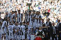 21.05.2017 - Torino Juventus Stadium -  Festa e premiazione scudetto 2016-17  nella  foto: L'esultanza dei giocatori della Juventus sul podio