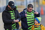 FGR fans arrive at the ground during the The FA Cup match between Forest Green Rovers and Carlisle United at the New Lawn, Forest Green, United Kingdom on 30 November 2019.