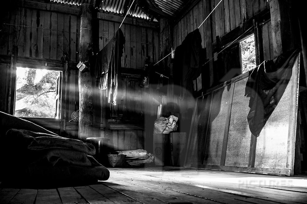 Clothesline, Nat Taung Kyaung Monastery, Bagan, Myanmar, Asia
