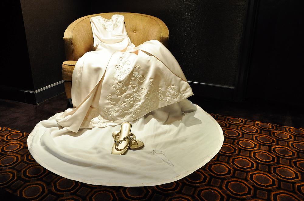 Uzoezi's dress, Merchant's Exchange, San Francisco