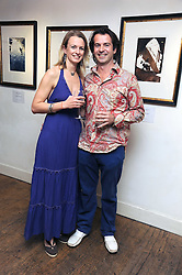 Artist JEREMY HOUGHTON and his wife JESSICA at a private view of his work entitled 'In The Foot-Steps of Charles Ryder' at The Adam Street Gallery, 9 Adam Street, London WC2 on 1st October 2008.