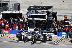 April 29, 2018 - Talladega, Alabama, United States of America - Aric Almirola (10) brings his car down pit road for service during the GEICO 500 at Talladega Superspeedway in Talladega, Alabama. (Credit Image: © Chris Owens Asp Inc/ASP via ZUMA Wire)