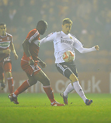 Bristol City's Steven Davies battles for the ball with Middlesbrough's Andre Bikey - Photo mandatory by-line: Joe Meredith/JMP  - Tel: Mobile:07966 386802 24/11/2012 - Middlesbrough v Bristol City - SPORT - FOOTBALL - Championship -  Middlesbrough  - River Side Stadium