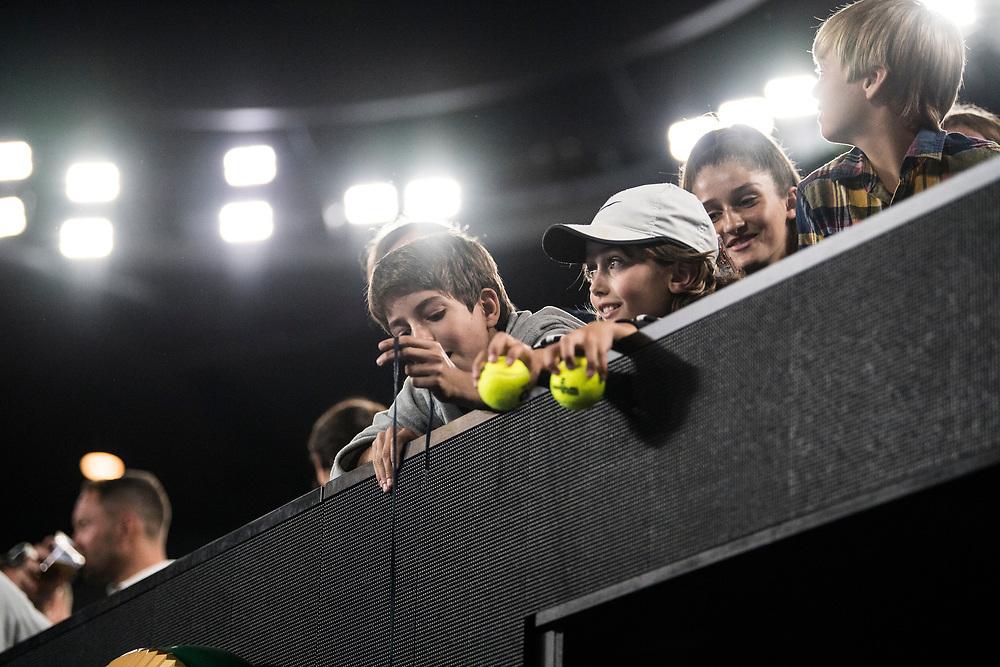 Fans on day nine of the 2018 Australian Open in Melbourne Australia on Tuesday January 23, 2018.<br /> (Ben Solomon/Tennis Australia)