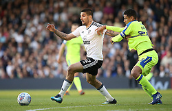 Aleksandar Mitrovic of Fulham and Curtis Davies of Derby County - Mandatory by-line: Paul Terry/JMP - 14/05/2018 - FOOTBALL - Craven Cottage - Fulham, England - Fulham v Derby County - Sky Bet Championship Play-off Semi-Final
