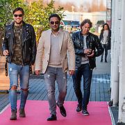NLD/Amsterdam/20170324 - Uitreiking 2de editie XXXL Magazine, Dennis Rugebregt met compagnon Edwin en Cris de Ravallet