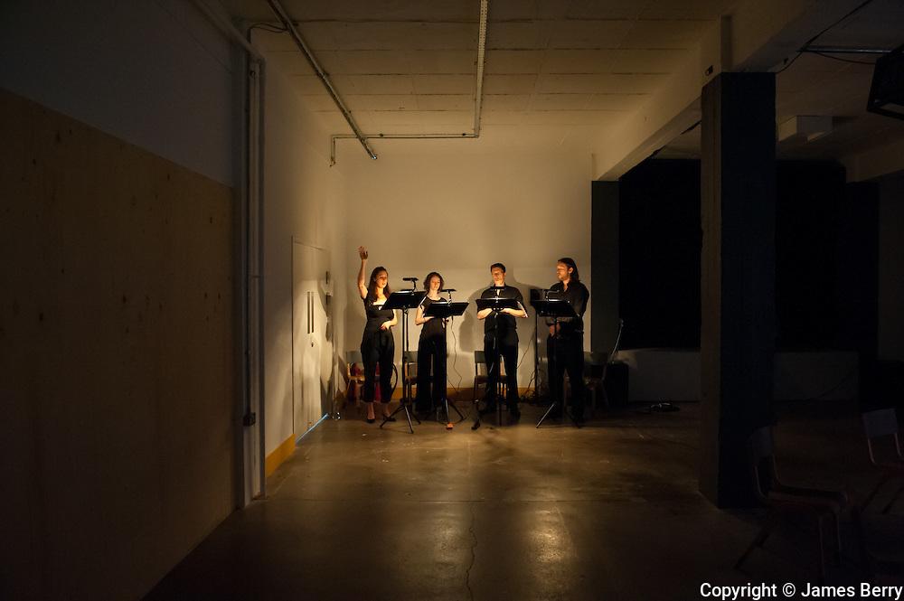 MURAL Rehearsal, Limewharf, 8 June 2014.