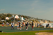 Basketball At Main Beach In Laguna Beach, California