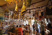 Casa Manolo, a traditional restaurant. Pata Negra hams hanging from the ceiling.