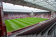 General view inside Tynecastle Stadium, Edinburgh, Scotland before the 4th round of the William Hill Scottish Cup match between Heart of Midlothian and Livingston on 20 January 2019.