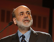 2/6/07 Omaha NE Federal Reserve Chairman Ben Bernanke speaks at the Greater Omaha Chamber of Commerce's annual meeting at the Qwest Center Omaha Tuesday afternoon. (photo by Chris Machian/ Prairie Pixel Group)
