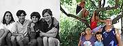 Ioana -second from the right on the photo- when she was 12 in 1993 with her friends at the orphanage and in 2011 at home in Popricani with her husband Mirel and 3 of their 4 children. They live in a house which belongs to Mirel's family in Popricani. Mirel works on building sites in France and comes back home 2 or 3 times a year.