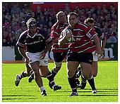 Gloucester v Munster. Heineken Cup Match. 12-10-2002. Season  01-02