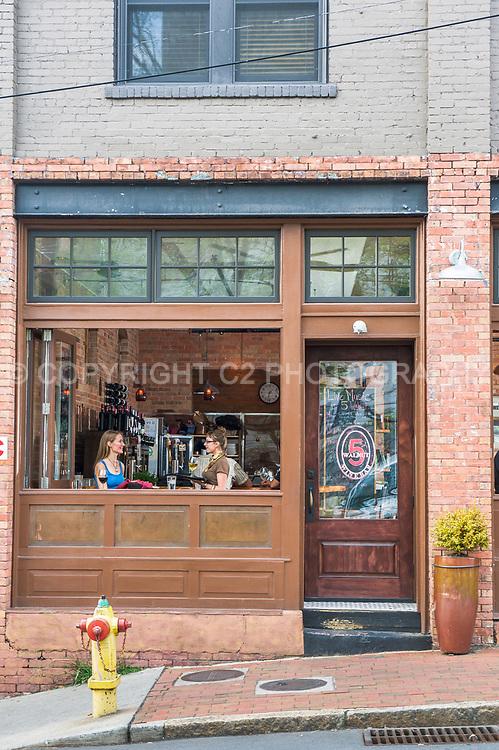 5 Walnut Wine Bar in downtown Asheville, North Carolina.