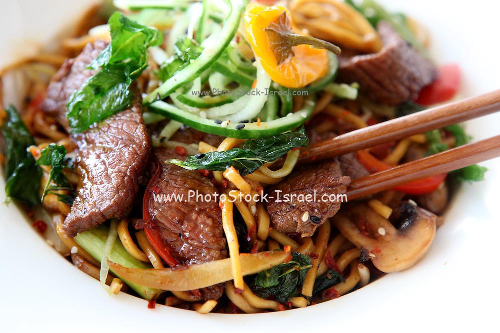 Stir fried beef noodles