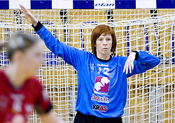 Goalkeeper of Krim Mercator  Sergeja Stefanisin at first finals handball match of Slovenian Women National Championships between RK Olimpija and RK Krim Mercator, on May 16, 2009, in Arena Tivoli, Ljubljana, Slovenia. Olimpija won after 10 years vs Krim Mercator 30:28. (Photo by Vid Ponikvar / Sportida)