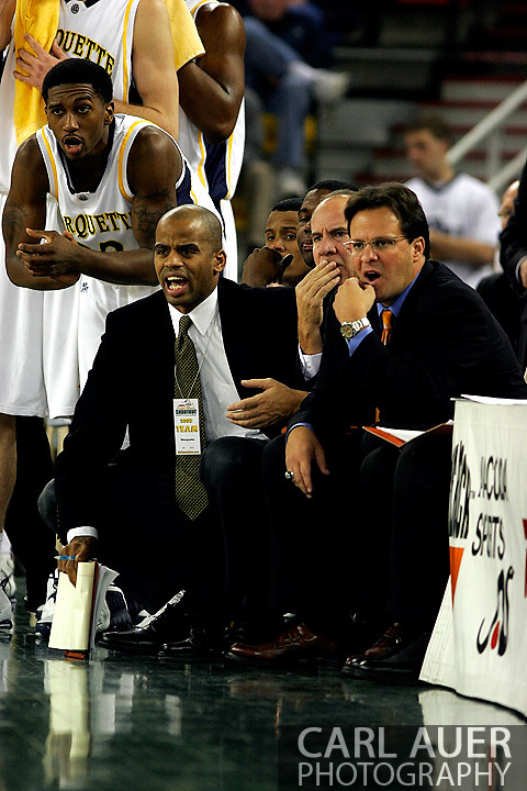 25 November 2005:  The Marquette Golden Eagle coaching staff during the Marquette University 73-70 victory over Oral Roberts University at the Great Alaska Shootout in Anchorage, Alaska