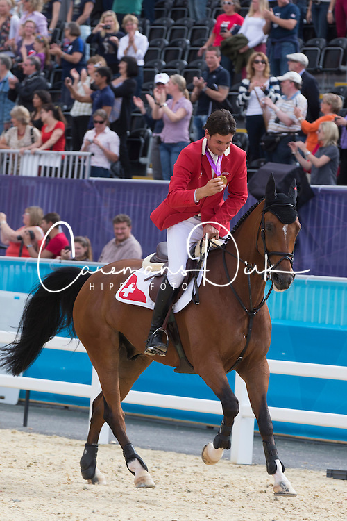 Guerdat Steve (SUI) - Nino des Buissonnets<br /> Olympic Games London 2012<br /> © Dirk Caremans