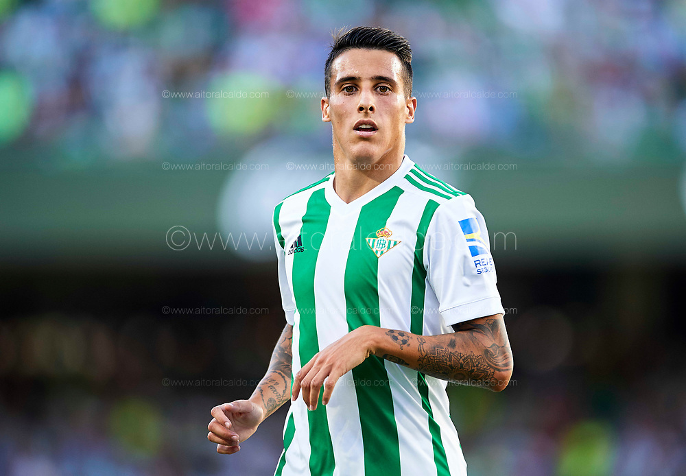 SEVILLE, SPAIN - SEPTEMBER 16:  Cristian Tello of Real Betis Balompie looks on during the La Liga match between Real Betis and Deportivo La Coruna  at Estadio Benito Villamarin on September 16, 2017 in Seville, .  (Photo by Aitor Alcalde Colomer/Getty Images)