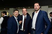 Alessandro Santoro, De Raffaele Walter, Alessandro Frosini<br /> Presentazione Campionato Lega Basket 2016-2017<br /> Basket Serie A  2016<br /> Milano 26/09/2016<br /> Foto Ciamillo-Castoria