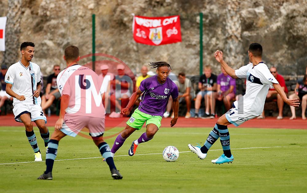 Bobby Reid of Bristol City attacks - Mandatory by-line: Matt McNulty/JMP - 22/07/2017 - FOOTBALL - Tenerife Top Training - Costa Adeje, Tenerife - Bristol City v Atletico Union Guimar  - Pre-Season Friendly