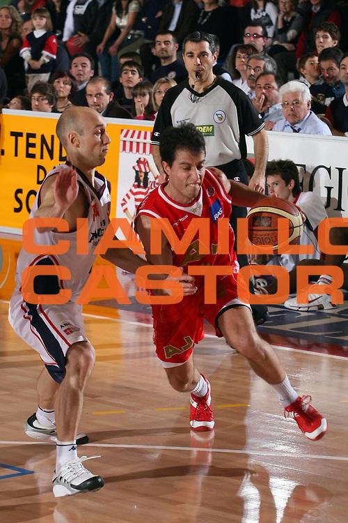 DESCRIZIONE : Biella Lega A1 2006-07 Angelico Biella Bipop Armani Jeans Milano<br /> GIOCATORE : Bulleri<br /> SQUADRA : Armani Jeans MIlano<br /> EVENTO : Campionato Lega A1 2006-2007<br /> GARA : Angelico Biella Armani Jeans Milano<br /> DATA : 18/03/2007<br /> CATEGORIA : Palleggio<br /> SPORT : Pallacanestro<br /> AUTORE : Agenzia Ciamillo-Castoria/S.Ceretti<br /> Galleria : Lega Basket A1 2006-2007<br /> Fotonotizia : Biella Campionato Italiano Lega A1 2006-2007 Angelico Biella  <br /> Armani Jeans Milano<br /> Predefinita :