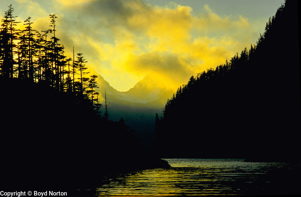Sunset, Taz Basin, Kenai Fjords National Park, Alaska