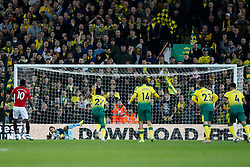 Tim Krul of Norwich City saves Marcus Rashford of Manchester United penalty - Mandatory by-line: Phil Chaplin/JMP - 27/10/2019 - FOOTBALL - Carrow Road - Norwich, England - Norwich City v Manchester United - Premier League