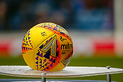 Mitre Delta SPFL Ball awaits to be picked up ahead of the Ladbrokes Scottish Premiership match between Rangers and Kilmarnock at Ibrox, Glasgow, Scotland on 16 March 2019.