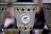 A trophy of the World Dog Show competition at the Leipzig Trade Fair. Over 31,000 dogs from 73 nations will come together from 8-12 November 2017 in Leipzig for the biggest dog show in the world.