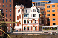 Europa, Deutschland, Duesseldorf, Gebaeude im Medienhafen, ehemaliges Kontorhaus.<br /> <br /> Europe, Germany, Duesseldorf, buildings in the Medienhafen (Media harbour).