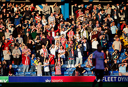 Sunderland fans shield their eyes from the sun - Mandatory by-line: Matt McNulty/JMP - 10/08/2017 - FOOTBALL - Gigg Lane - Bury, England - Bury v Sunderland - Carabao Cup - First Round