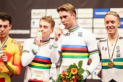 March 4, 2018 - Apeldoorn, Netherlands - Roger Kluge, Theo Reinhardt (GER) - Men's madison .during UCI Track Cycling World Championships Apeldoorn 2018, in Apeldoorn, Netherlands, on March 4, 2018. (Credit Image: © Foto Olimpik/NurPhoto via ZUMA Press)