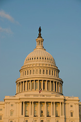 Washington DC; USA: The dome of the Capitol Building, legislative branch of the US government, in golden afternoon light.Photo copyright Lee Foster Photo # 3-washdc83083