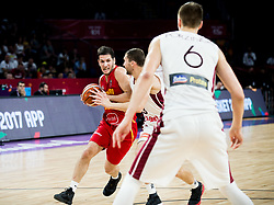 Nikola Ivanovic of Montenegro during basketball match between National Teams of Latvia and Montenegro at Day 11 in Round of 16 of the FIBA EuroBasket 2017 at Sinan Erdem Dome in Istanbul, Turkey on September 10, 2017. Photo by Vid Ponikvar / Sportida