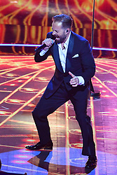 Alfie Boe performs at the Royal Albert Hall in London during a star-studded concert to celebrate the Queen's 92nd birthday.
