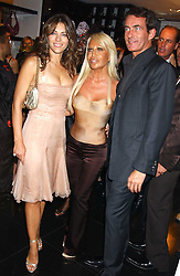 Left to right, LIZ HURLEY, DONATELLA VERSACE and TIM JEFFERIES at a party hosted by Versace during London Fashion Week 2005 at their store in Slaone Street, London on 19th September 2005.<br /><br />NON EXCLUSIVE - WORLD RIGHTS